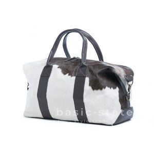 Rugged Hide Texas RH-1577 Cow Hide Travel Bag - Carry on Luggage - Overnight Cow Print Bag - Basic State