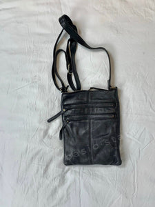 Shop Rugged Hide Wendy Leather Bag in Black Leather Basic State