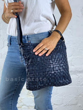 Midnight Blue Zara Woven Cross Body Bag Rugged Hide Zara Basic State