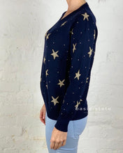 Running w Scissors || Gold Star Knit Sweater Navy Knitted Jumper - Basic State