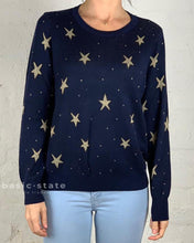Running w Scissors || Gold Star Knit Sweater Gold Star Jumper Navy Knit Jumper Gold Star Basic State