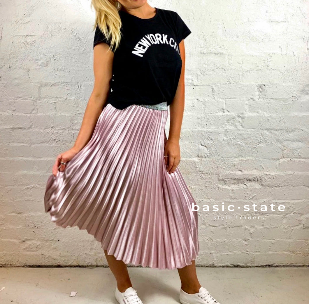 Running with Scissors Pleated Pink Blush Skirt - Basic State