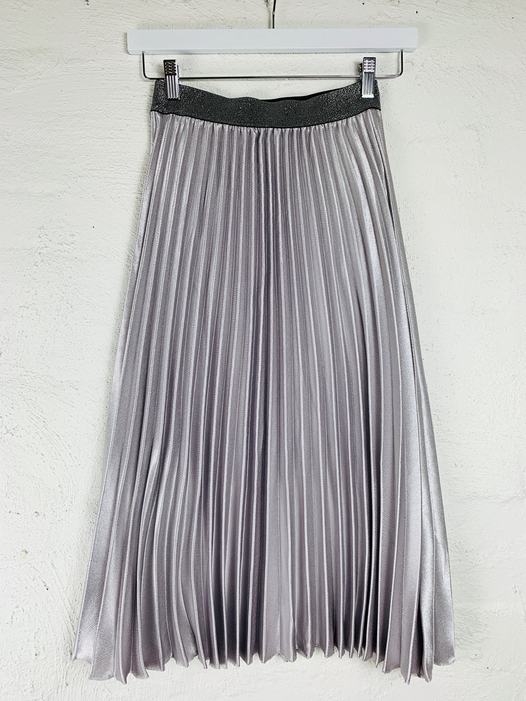 Basic State Pleated Skirt by Running w Scissors Silver Mauve