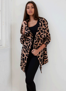 Cartel Willow Cardigan leopard print animal print cartel & Willow Basic State
