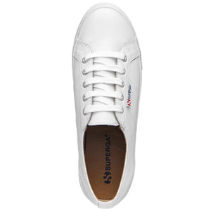 superga 2730 Leather platform flatform high sole Leather Sneakers White Superga Basic State