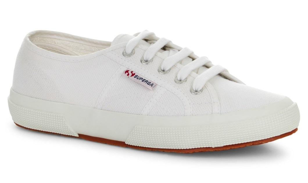 Superga Classic Tennis Shoe Canvas Sneakers White Superga 2750 Cotu Classic Basic State Style Traders White Tennis Shoe Runners rubber soles sneakers, trainers, joggers, runners white canvas