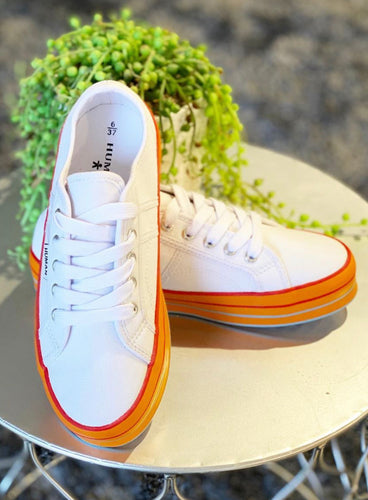 Tex Orange Sole Sneakers Human Shoes Orange Sole Sneakers Basic State Human Shoes Stockist