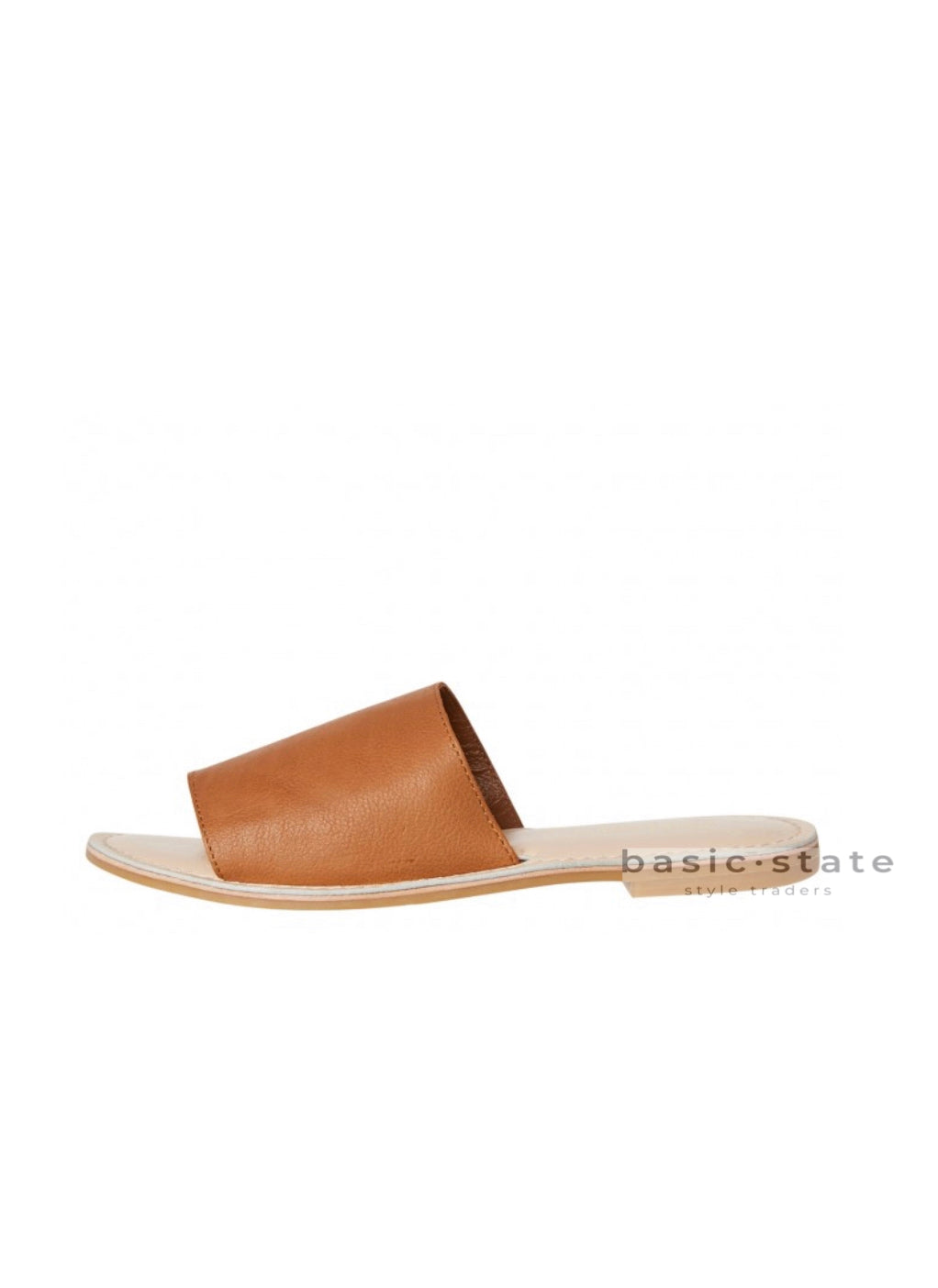 Trinity Slides Tan Leather Shoes - Ladies Super soft leather Slides Leather Sandals Leather Slides Tan leather shoes - Basic State