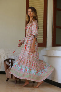Tulle & Batiste Pishon Kimono Dress - Lotus Pink psiphon - Boho Dress Bohemian Dress - Basic State