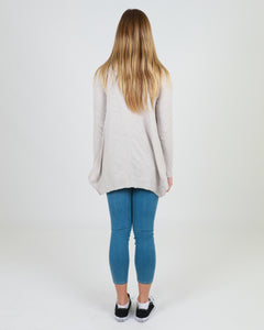 3RD STORY WILLOW LONG SLEEVE TEE TSHIRT stone BASIC STATE