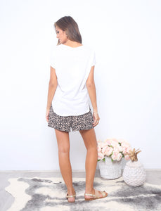 Leopard Print Shorts Basic state