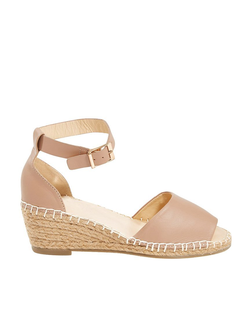 Helene Wedge Espadrille Heals Human Leather Wedges Human leather shoe stockist Basic State