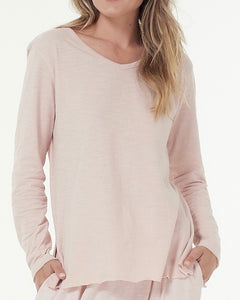 Cle Abigail Long Sleeve Tee Organic Cotton Long Sleeve Tshirt Organic Cotton Long Sleeve Top Cle Stockist  - Basic State