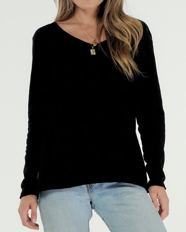 Cle Abigail Long Sleeve Tee Cle Abigail Organic Clothing Cle Clothing Cle Organic Clothing Stockist Cle Australian Stockist Basic State