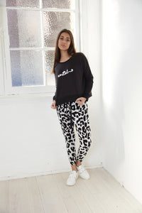 Cartel and Willow leopard print pants Basic state