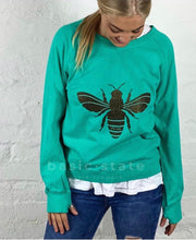 Bee Jumper My Izzi Glitter Bee Jumper Save the Bees Emerald Green Bee Jumper Bee the Cure Basic State