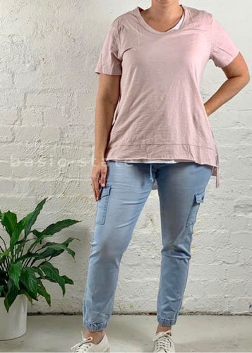 Plus Size || 3rd Story The Label Brighton Tee - Blush