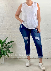 Katie Jeans || Distressed Denim