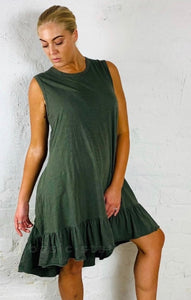 3rd Story The Label Hillary Tunic Dress || Available in Khaki and Indigo