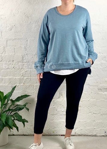 3rd Story Plus Size Ulverstone Sweater - Duck Egg Blue Ulverstone Jumper - Basic State
