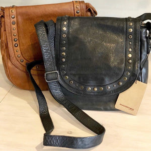 Rugged Hide Australian stockist Poe Leather Bag Leather Bags with Studs - Basic State Rugged Hide Stockist