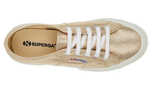 Superga Classic Canvas Tennis Shoe - Lame Gold