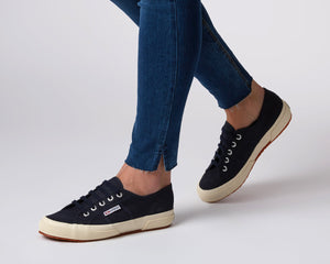 Superga 2750 Navy Blue Superga Classic Tennis Shoe Canvas Sneakers Navy Blue Superga2750 Cotu Classic Basic State Style Traders Navy Tennis Shoe Runners jogger trainers