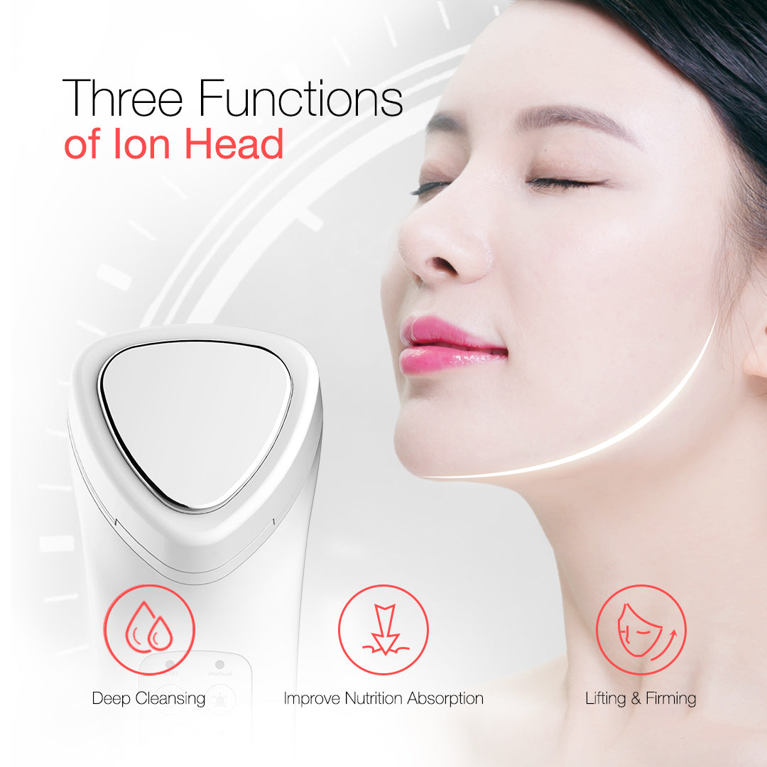 Leyoung Facial Skin Care Light Therapy Device For Face and Neck in Pearl White