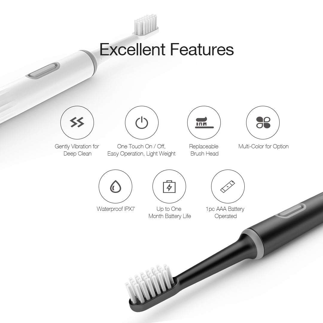 Leyoung Battery Powered Electric Toothbrush