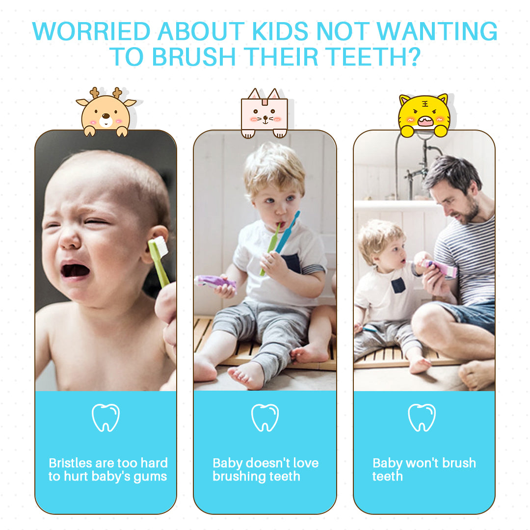 Leyoung Kids Electric Toothbrush, Vibrating Toothbrush for Children Boys and Girls Age 3-13, with Smart Timer