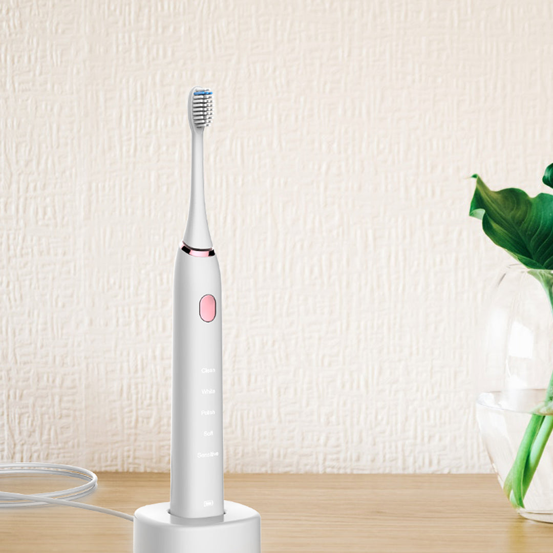 Leyoung  Sonic Electric Toothbrush,Rechargeable Toothbrush 5 Models in White