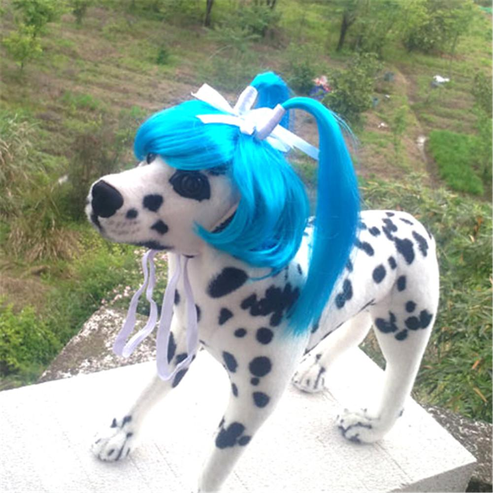 Cute Pet Dog Cat Curly Wig Long Hair Cosplay Halloween Costume Fancy Dress Dropshipping Hot Sale