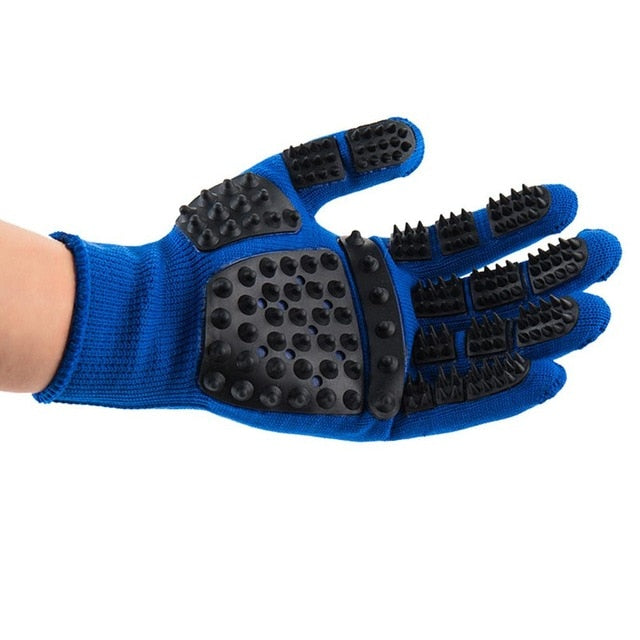 Pet Grooming Gloves Bath Massage Thickened Scratch Resistant Cats Dogs Floating Hair Removing Gloves