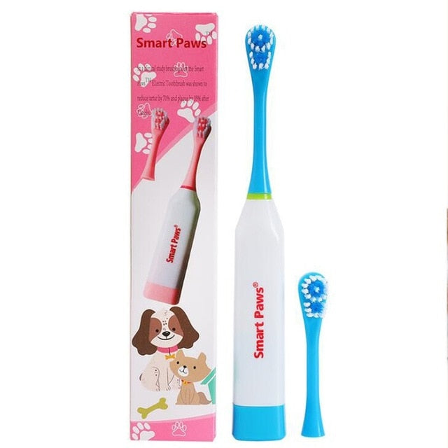 Electric Pet Dog Tooth Brush Cleaning Dogs Teeth with Non-slip Handle Perfect Teeth Care for Pet Dog Oral Health Products