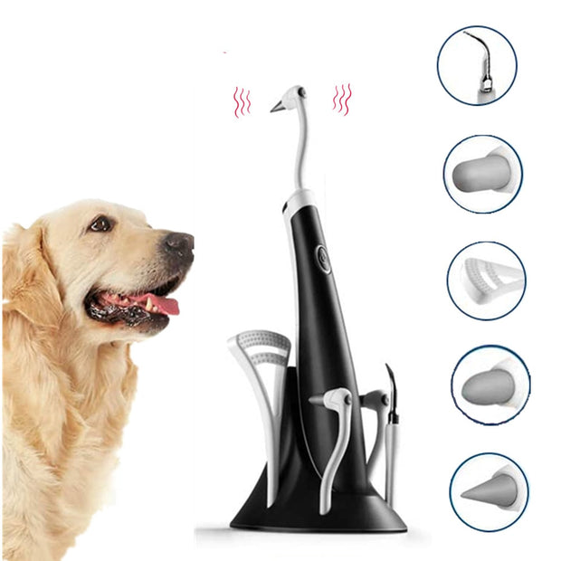 Electric Dog Teeth Cleaning Plaque Remover Pet Teeth Repairing Kit Teeth Stain Calculus Tartar Removal Polisher Pet Grooming