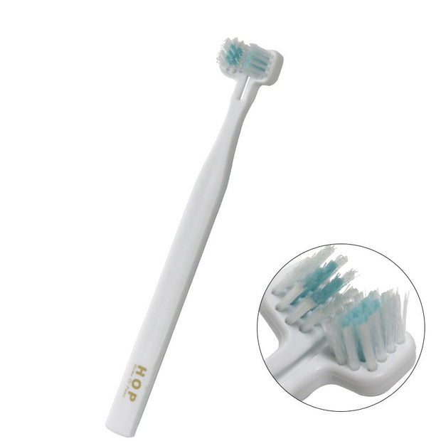Pet Dog Toothbrush Double Heads Teeth Brushing Cleaning Teeth Mouth Care Products For Dog Cat Toothbrush Teeth Gromming Products