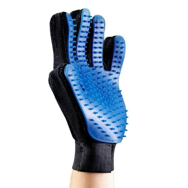 Glove quitapelos so pets removes the hair and massage to pet dogs or cats, waterproof for cleaners with velcro closing