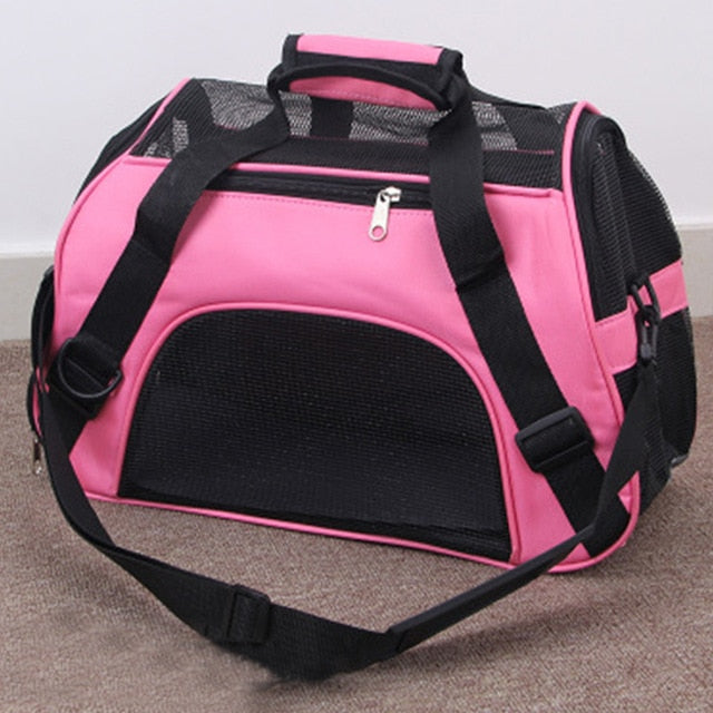 Portable Dog Cat Carrier Bag Pet Puppy Travel Bags Breathable Mesh Small Dog Cat Dogs Outdoor Tent Carrier Outgoing Pets Handbag