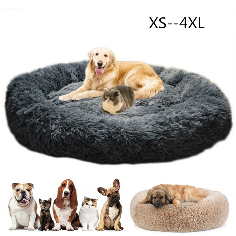 Big Orthopedic Dog Bed Comfortable Doughnut Round Washable Deep Sleep Calming Dog Beds for Large Dog Medium Dogs and Cat Supply