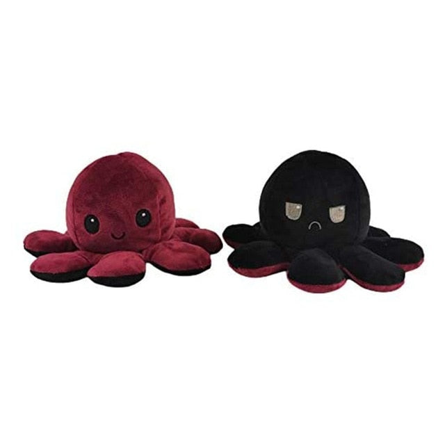 Reversible Flip Octopus Stuffed Plush Doll Soft Simulation Reversible Plush Toy Color Chapter Plush Doll Filled Plush Child Toy