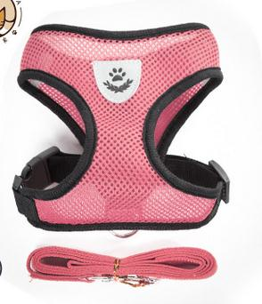 Mesh Small Dog Harness And Leash Set Puppy Cat Vest Harness For Pug Bulldog Arnes Perro Cat Dog Harness Vest petshop