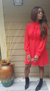 NEON RED DRESS