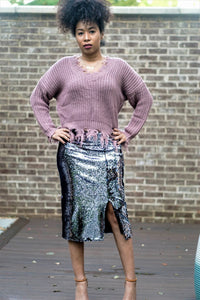THE JACKIE SEQUIN SKIRT