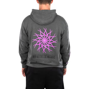 THE WATCHERS HOODED SWEATSHIRT (PIGMENT BLACK)