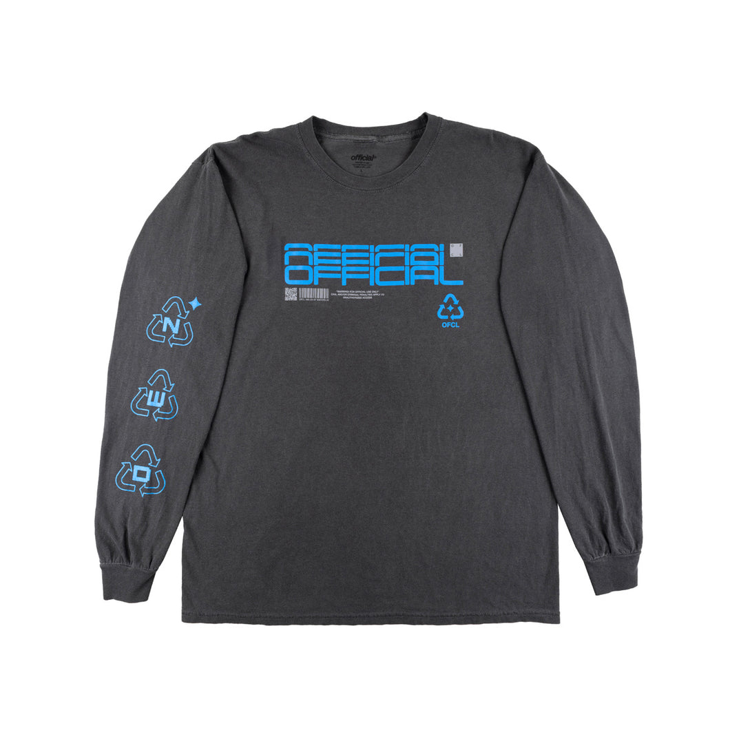 DETERMINISTIC DELUSION LONGSLEEVE SHIRT (PEPPER BLACK)
