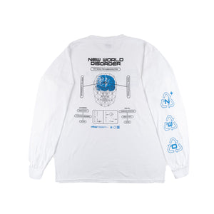DETERMINISTIC DELUSION LONGSLEEVE SHIRT (WHITE)