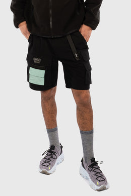 NEXUS RIPSTOP CARGO SHORTS - BLACK