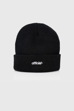 EVERYDAY OFFICIAL BEANIE - BLACK RESTOCK 再入荷