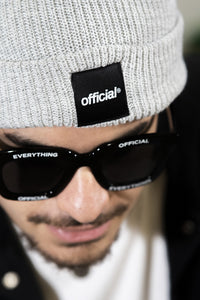 EVERYDAY BOX LOGO BEANIE - HEATHER GREY