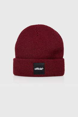 EVERYDAY BOX LOGO BEANIE - BURGANDY